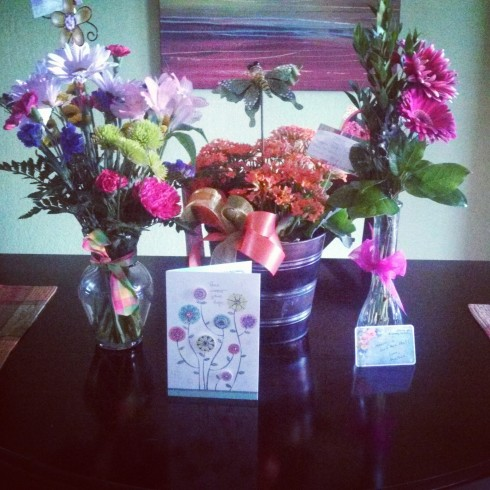 So grateful for all of those who sent flowers, prayers, and well wishes my way!
